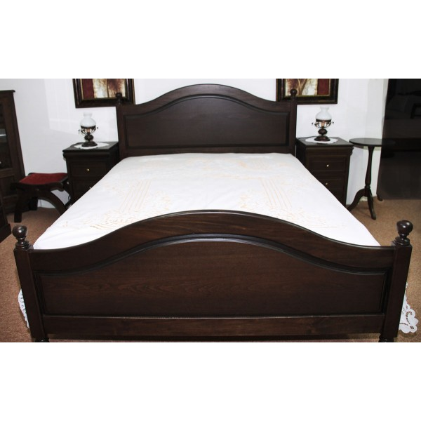 Κρεβάτι Διπλό Αντιγόνη & Κομοδίνο με Τρία Συρτάρια