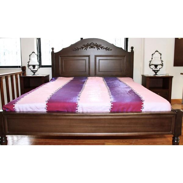 Κρεβάτι Διπλό Ελιά & Κομοδίνα