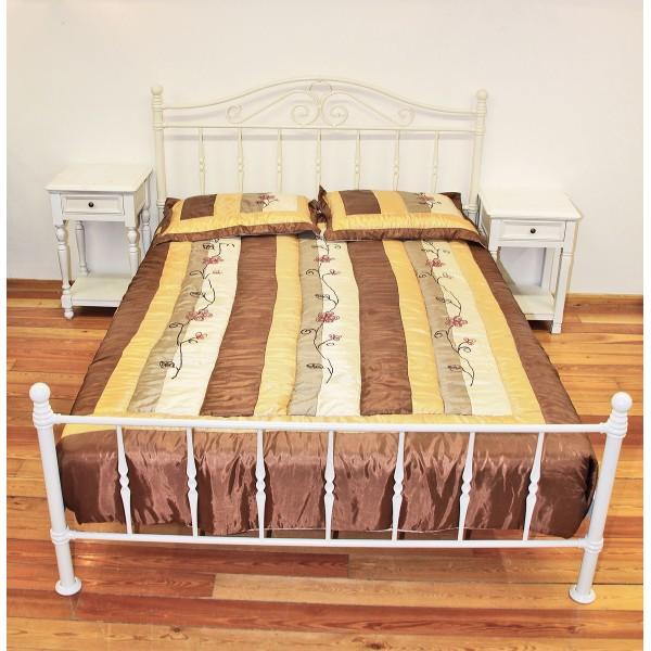Κρεβάτι Διπλό Βικτώρια, Κομοδίνο με ένα Συρτάρι & Τετράγωνο Πόδι