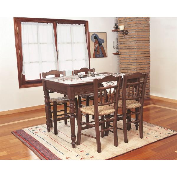 Τραπέζι Κυκλαδίτικο με Ξύλινο Καπάκι & Καρέκλα Μοναστηράκι