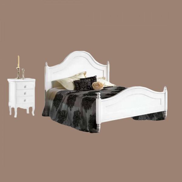 Κρεβάτι απλό διπλό με κομοδίνο